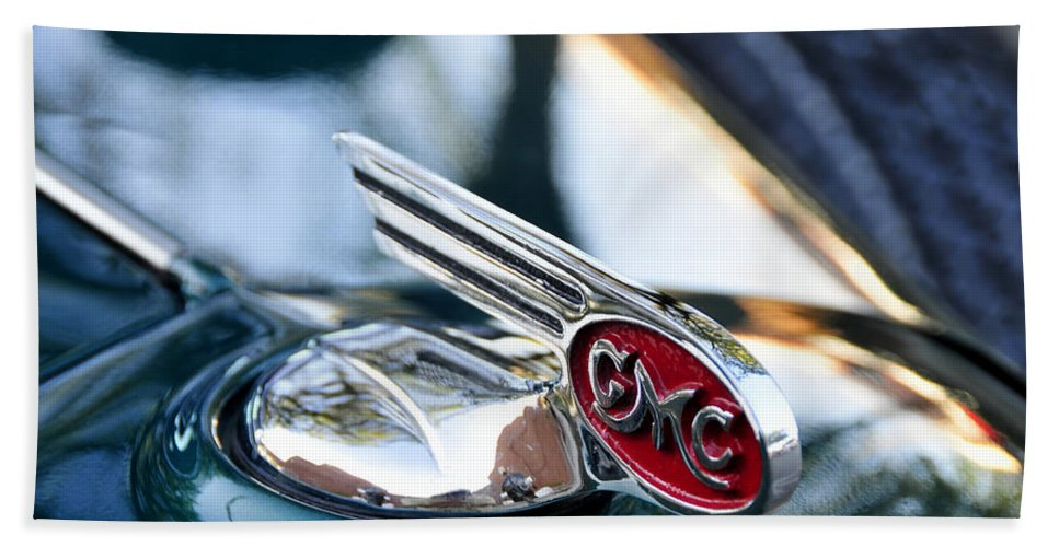 Fine Art Photography Hand Towel featuring the photograph 36 Gmc Pick Up by David Lee Thompson