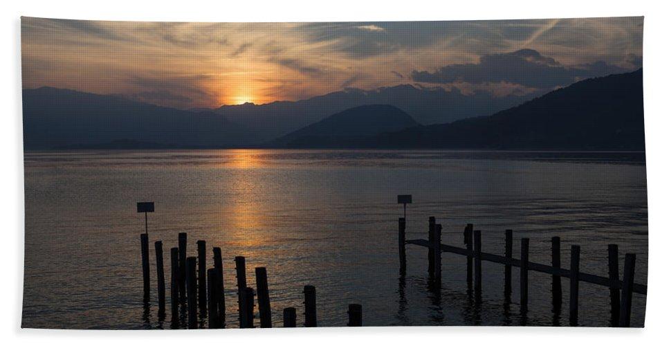 Lake Maggiore Hand Towel featuring the photograph Lake Maggiore by Joana Kruse