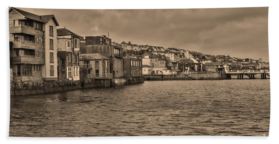 Falmouth Bath Sheet featuring the photograph Falmouth Harbour by Brian Roscorla