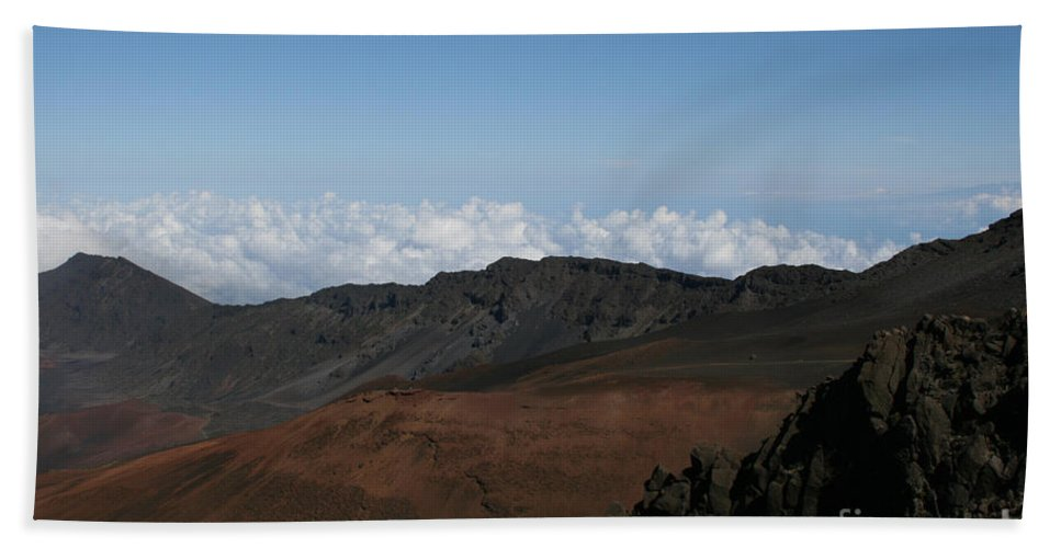 Aloha Hand Towel featuring the photograph Haleakala Volcano Maui Hawaii by Sharon Mau