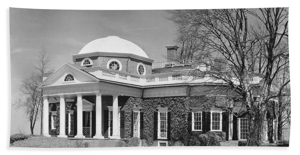 18th Century Hand Towel featuring the photograph Jefferson: Monticello by Granger