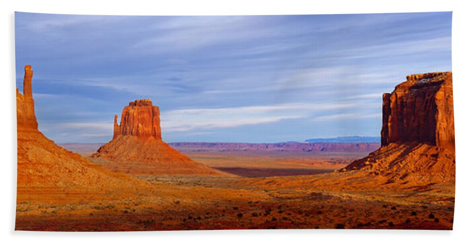 America Hand Towel featuring the photograph Monument Valley by Brian Jannsen