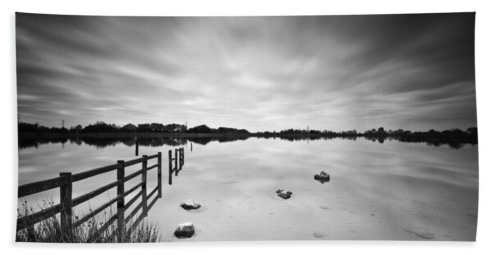 Penyfan Pond Bath Sheet featuring the photograph Penyfan Pond by Steve Purnell