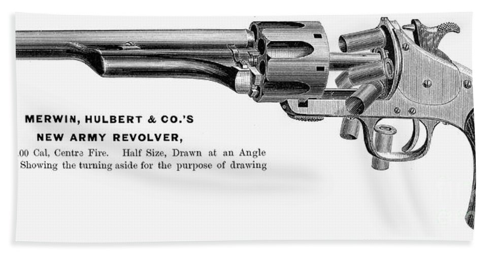 1880s Bath Sheet featuring the photograph Revolver, 19th Century by Granger