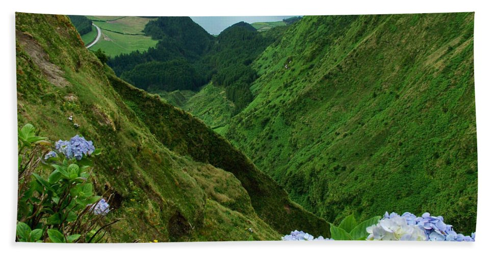 Azores Bath Towel featuring the photograph Sete Cidades - Azores by Gaspar Avila