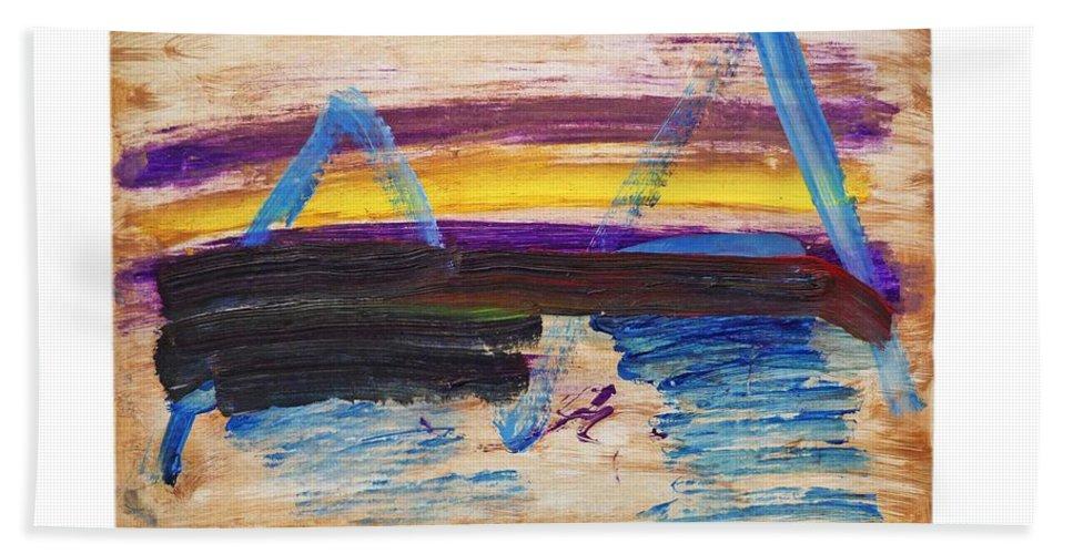 Tsunami Bath Sheet featuring the painting Tsunami by Charles Stuart