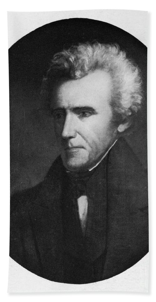19th Century Hand Towel featuring the photograph Andrew Jackson (1767-1845) by Granger