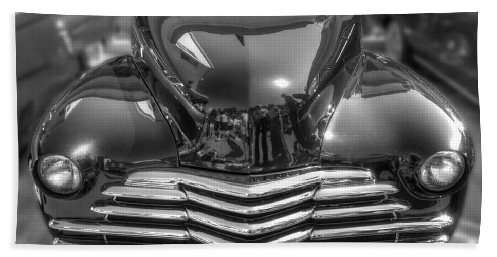 Chevy Bath Sheet featuring the photograph 48 Chevy Convertible by Anthony Wilkening