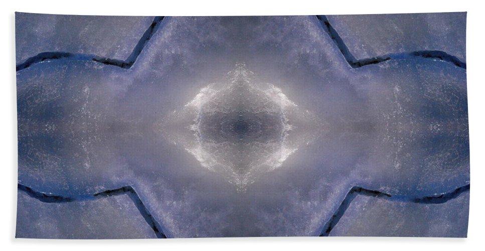 Lehtokukka Bath Sheet featuring the photograph Abstract Ice by Jouko Lehto