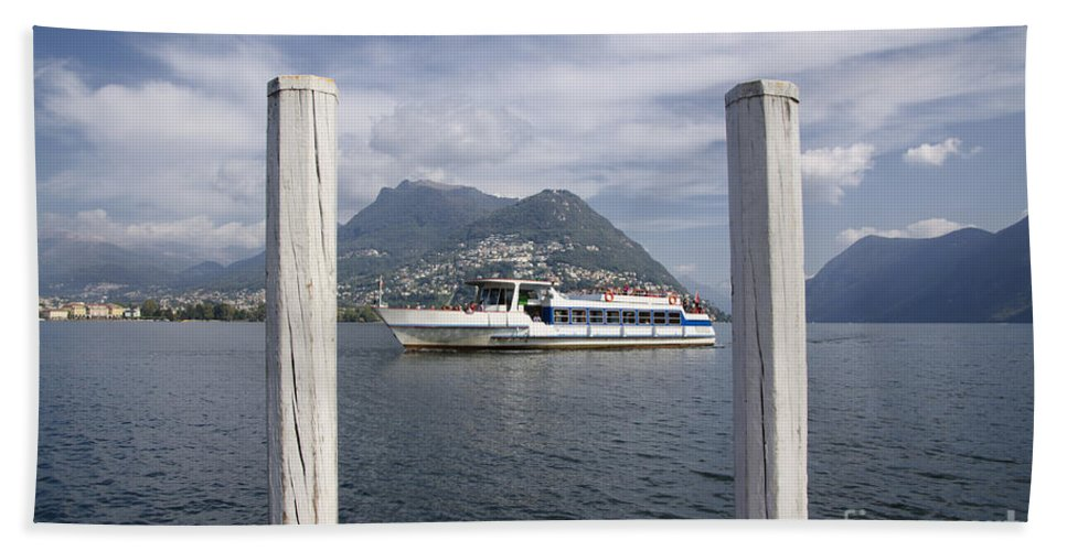 Lake Hand Towel featuring the photograph Alpine Lake by Mats Silvan