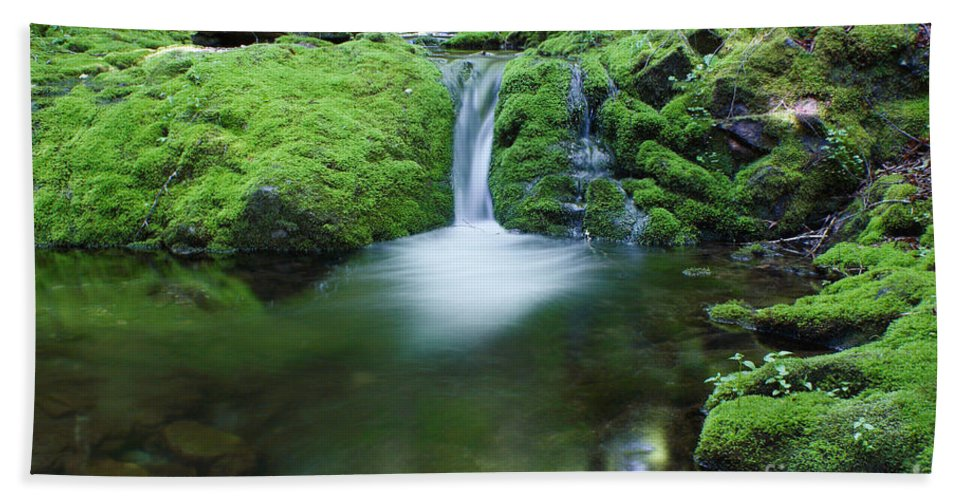 Waterfall Hand Towel featuring the photograph Waterfall by Ted Kinsman