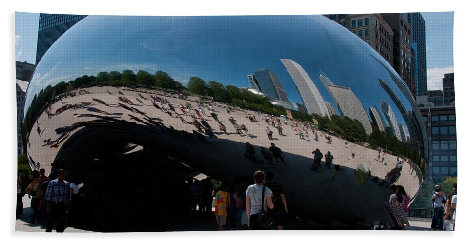 Artistic Sculpture Hand Towel featuring the photograph Chicago City Scenes by Carol Ailles