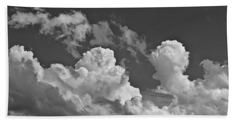Skies Bath Sheet featuring the photograph English Summer Sky by David Pyatt