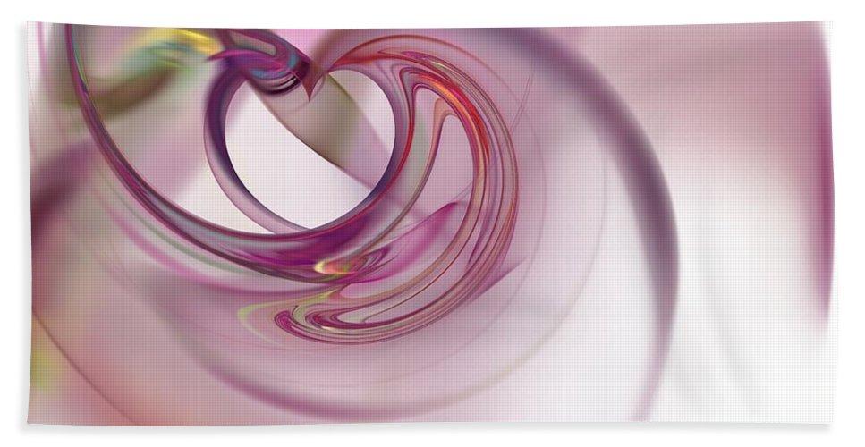 Background Bath Sheet featuring the digital art Fractal by Henrik Lehnerer