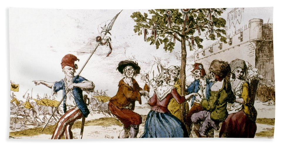 1792 Hand Towel featuring the photograph French Revolution, 1792 by Granger