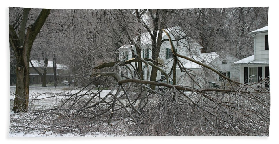 Ice Storm Hand Towel featuring the photograph Ice Storm by Ted Kinsman