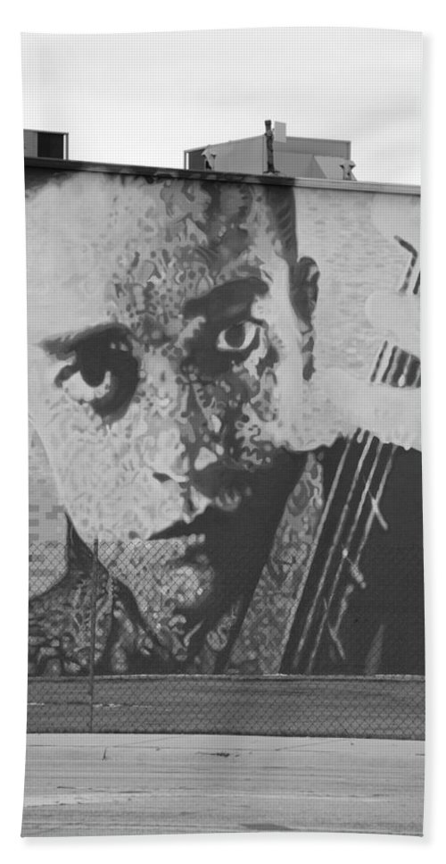 Johnny Cash Hand Towel featuring the photograph Johnny Cash by Rob Hans