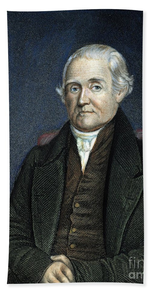 18th Century Hand Towel featuring the photograph Noah Webster (1758-1843) by Granger