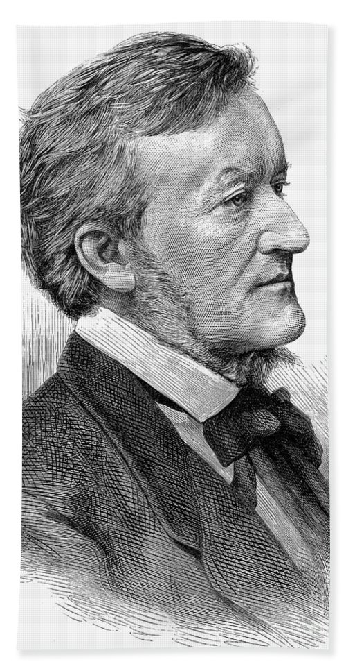 19th Century Hand Towel featuring the photograph Richard Wagner (1813-1883) by Granger