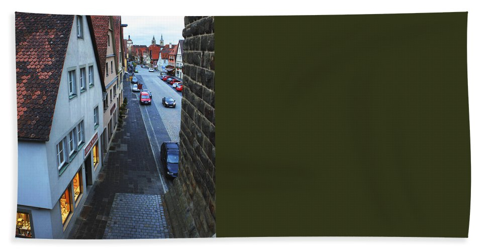 Rothenburg Ob Der Tauber Hand Towel featuring the photograph Rothenburg Medieval Old Town by Amit Strauss