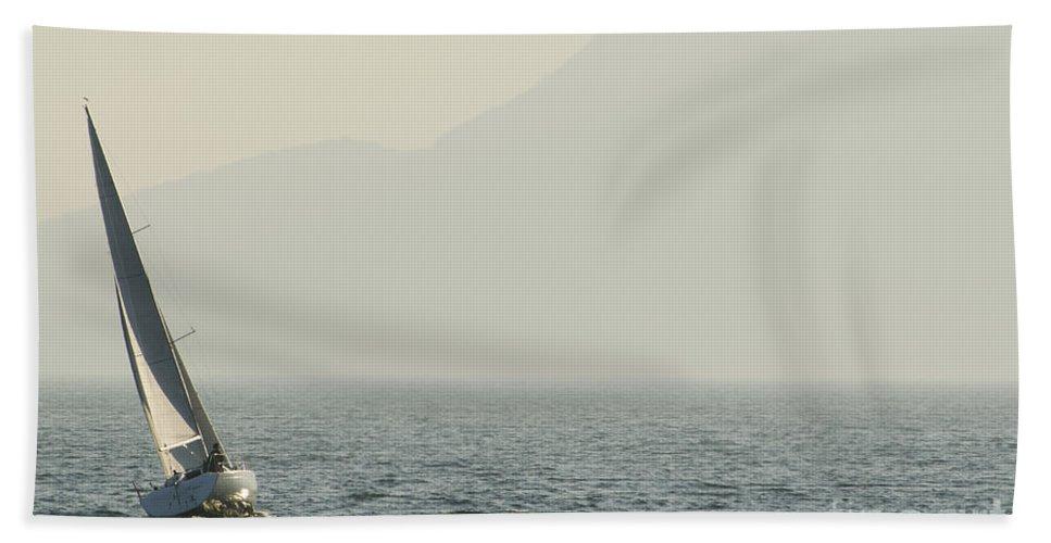 Sail Bath Sheet featuring the photograph Sailing Boat by Mats Silvan