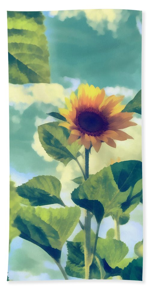Art Hand Towel featuring the photograph Sunflower by Michael Goyberg