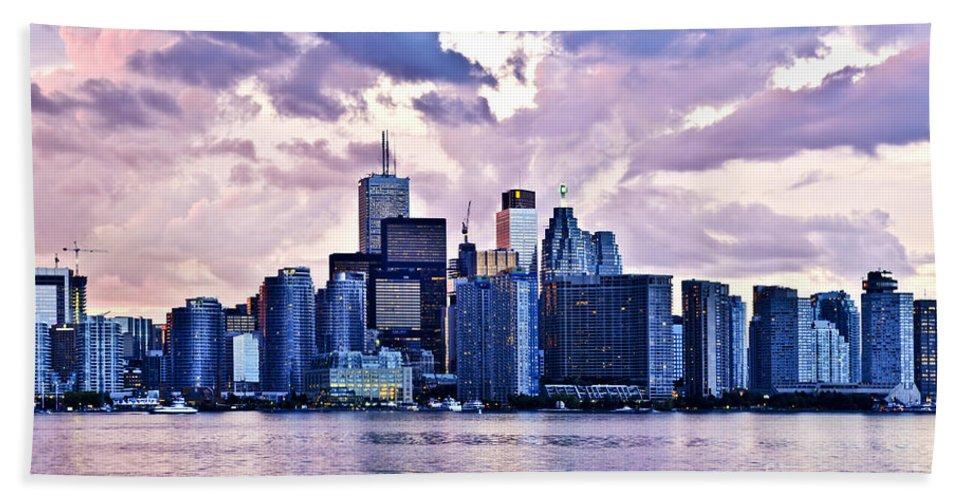 Toronto Hand Towel featuring the photograph Toronto Skyline by Elena Elisseeva
