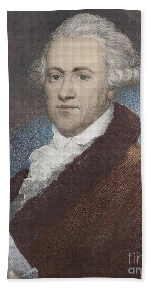 Science Hand Towel featuring the photograph William Herschel, German-british by Science Source