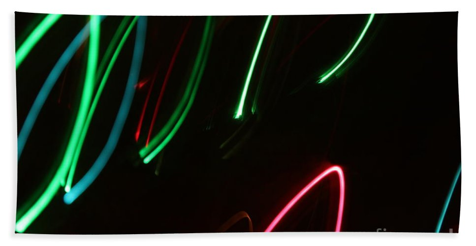 Abstract Bath Sheet featuring the photograph Abstract Motion Lights by Henrik Lehnerer
