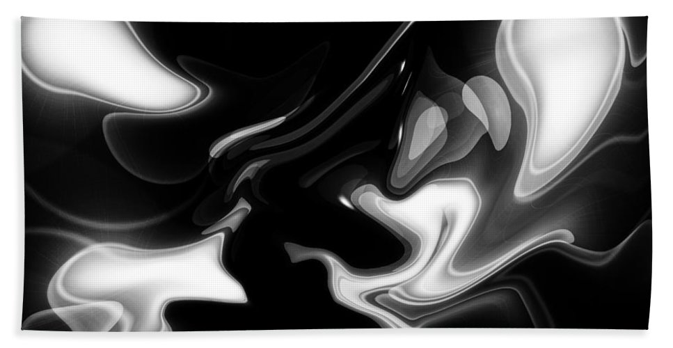 Art Bath Sheet featuring the digital art Abstract Pattern Art by David Pyatt