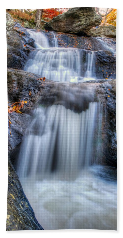 Cunningham Falls Hand Towel featuring the photograph Cunningham Falls by Mark Dodd