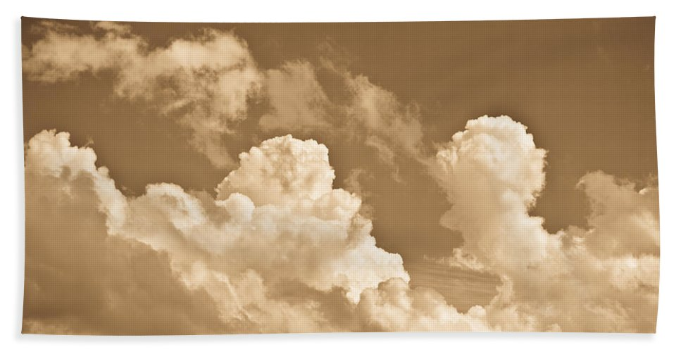 Skies Bath Sheet featuring the photograph English Summer Sky by David Pyatt