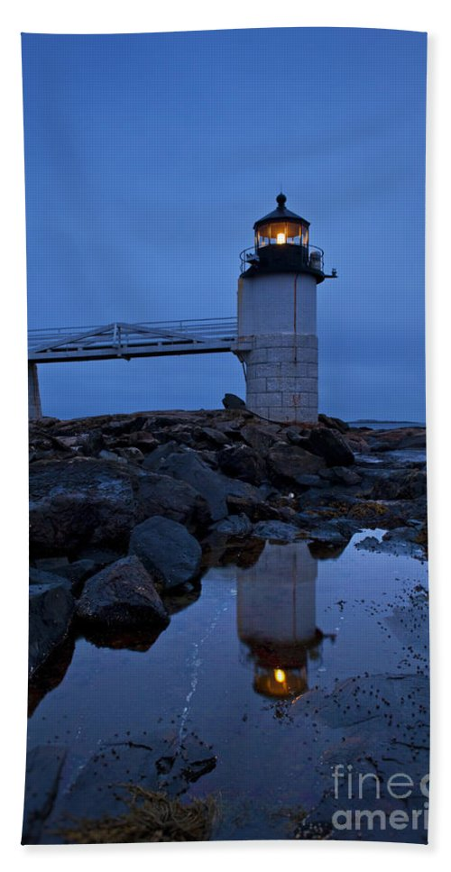 Maine Bath Sheet featuring the photograph Marshall Point Lighthouse by John Greim