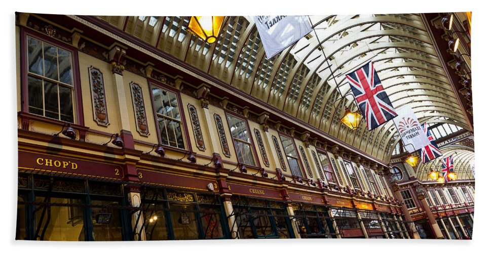 Leadenhall Bath Sheet featuring the photograph Leadenhall Market London by David Pyatt