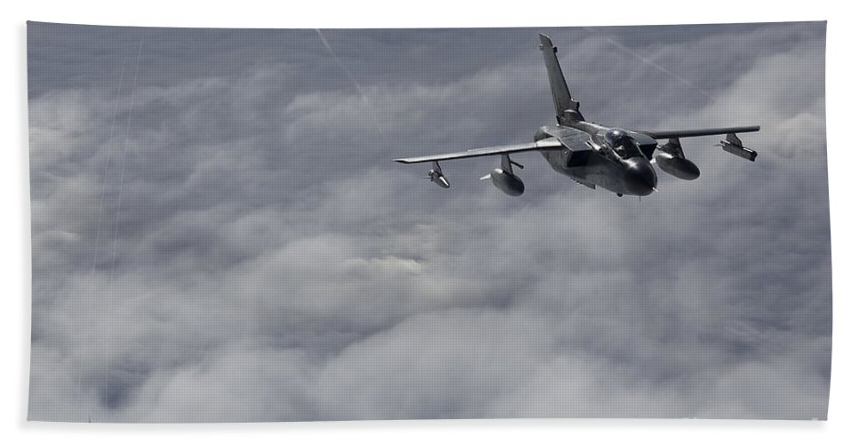 Germany Hand Towel featuring the photograph A Luftwaffe Tornado Ids Over Northern by Gert Kromhout