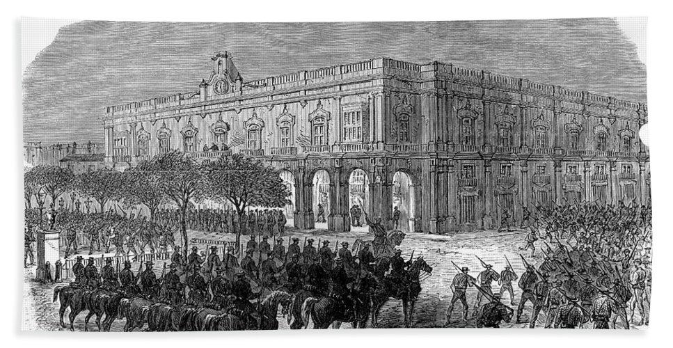 1869 Hand Towel featuring the photograph Cuba: Ten Years War by Granger