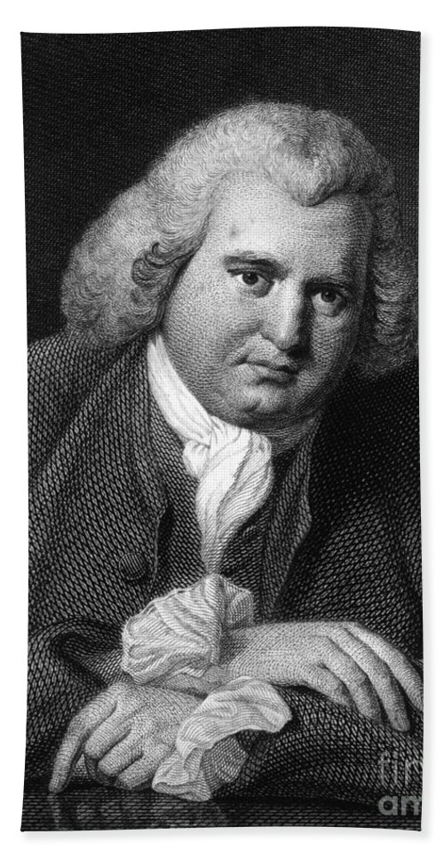 History Hand Towel featuring the photograph Erasmus Darwin, English Polymath by Science Source