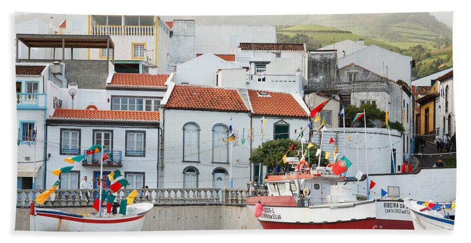 Harbor Bath Sheet featuring the photograph Vila Franca Do Campo by Gaspar Avila
