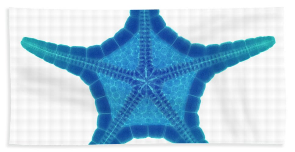 Xray Hand Towel featuring the photograph X-ray Of Starfish by Ted Kinsman