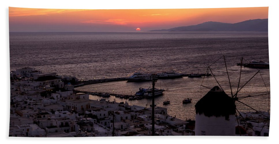 Ano Myli Bath Towel featuring the photograph Mykonos by Joana Kruse