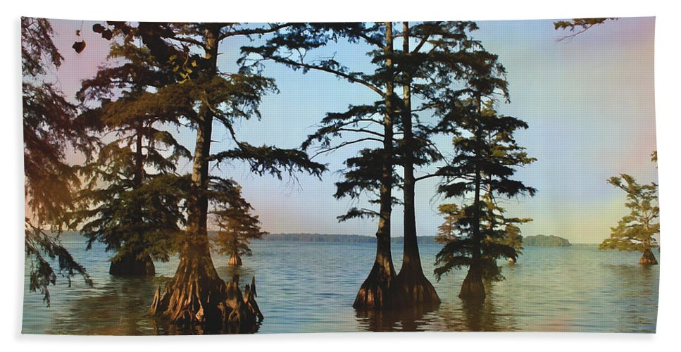 Reelfoot Lake Hand Towel featuring the photograph Reelfoot Lake by Bonnie Willis
