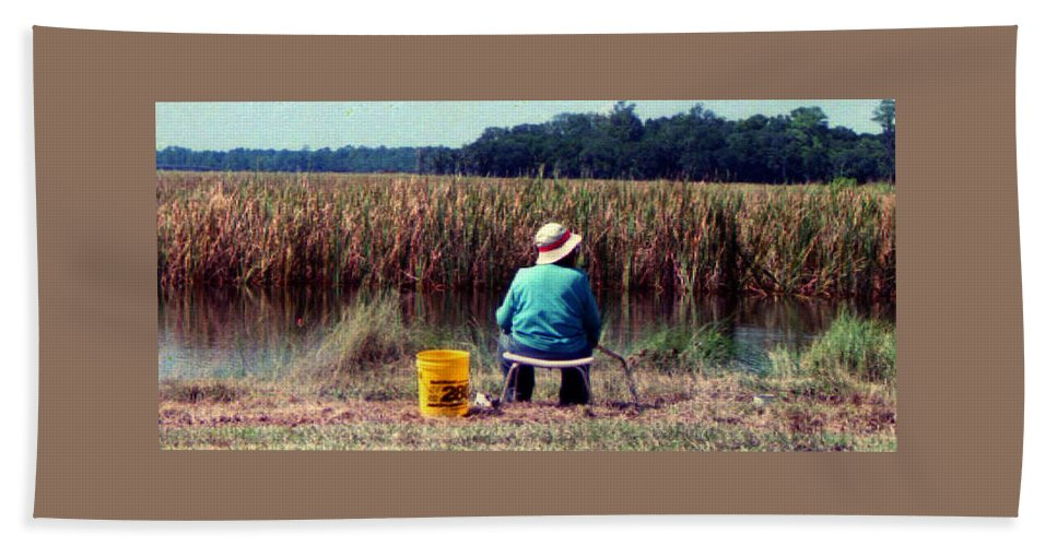 Woman Fishing Bath Sheet featuring the photograph A Great Day Fishing by Patricia Greer