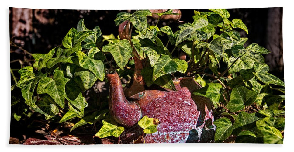 Tea Kettle Bath Sheet featuring the photograph A Kettle Of Greens by Christopher Holmes