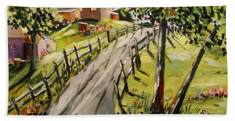 Acrylic Landscape Bath Sheet featuring the painting A Light Summer Breeze by John Williams