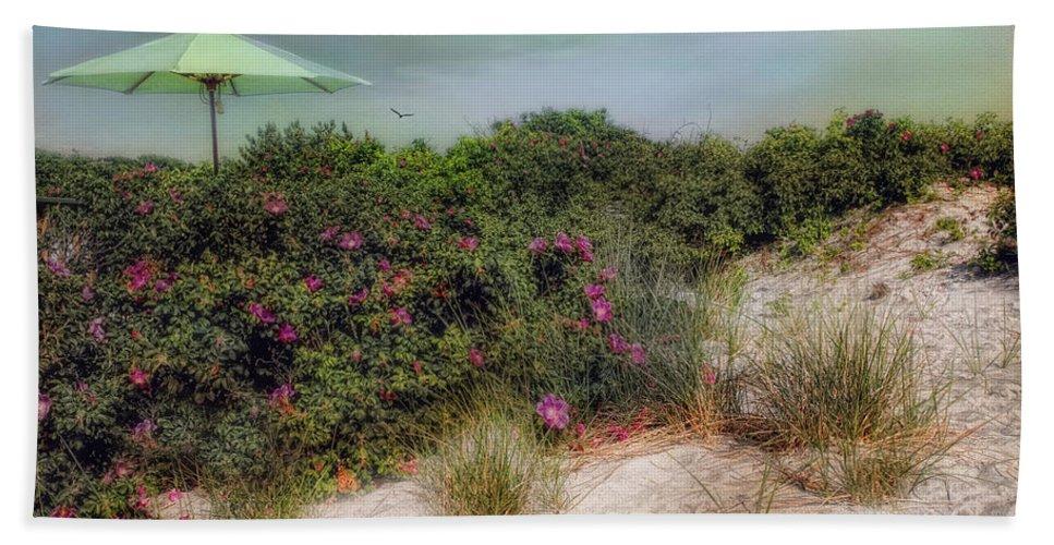 Beach Bath Sheet featuring the photograph A Little Shade by Robin-Lee Vieira