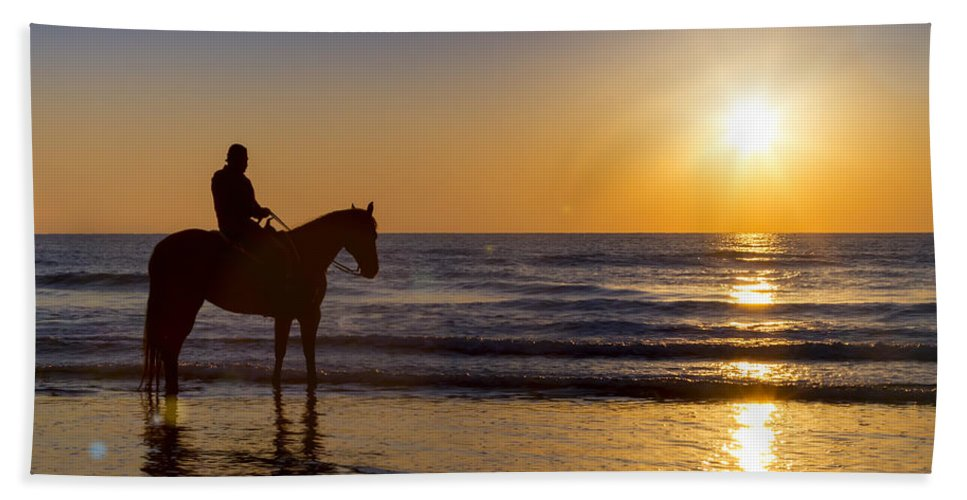Horse Hand Towel featuring the photograph A Moment Of Silence by Janet Fikar