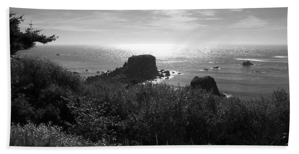 Coastal Bath Sheet featuring the photograph A Perfect View Of Sunlight by Kathleen Grace
