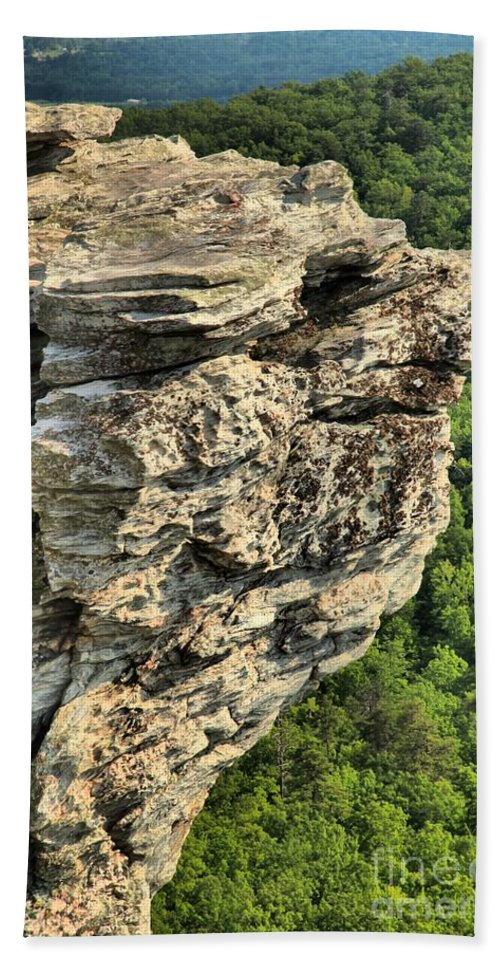 Hanging Rock State Park Hand Towel featuring the photograph A Rocky Grin by Adam Jewell