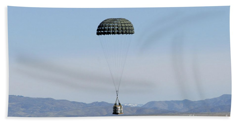 Copy Space Hand Towel featuring the photograph A Standard Container Delivery System by Stocktrek Images