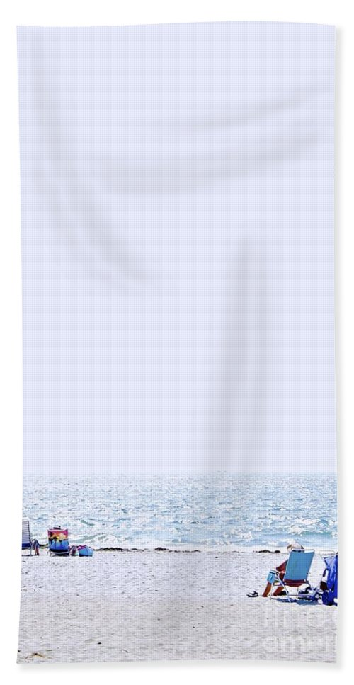 Beach Hand Towel featuring the photograph That Beach Moment by Alanna DPhoto